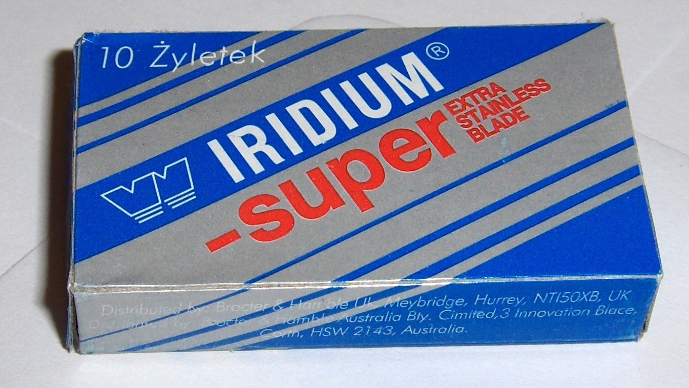 A counterfeit pack of Super Iridiums